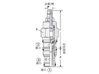 2位2口和3口导压操作型方向阀,内部排油
